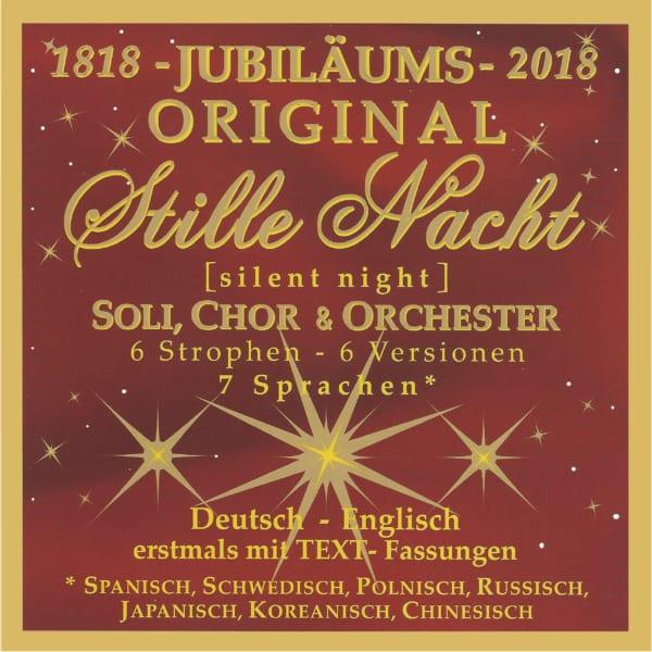 """Neue """"JUBILÄUMS-Stille Nacht CD"""" 7 Sprachen 1"""