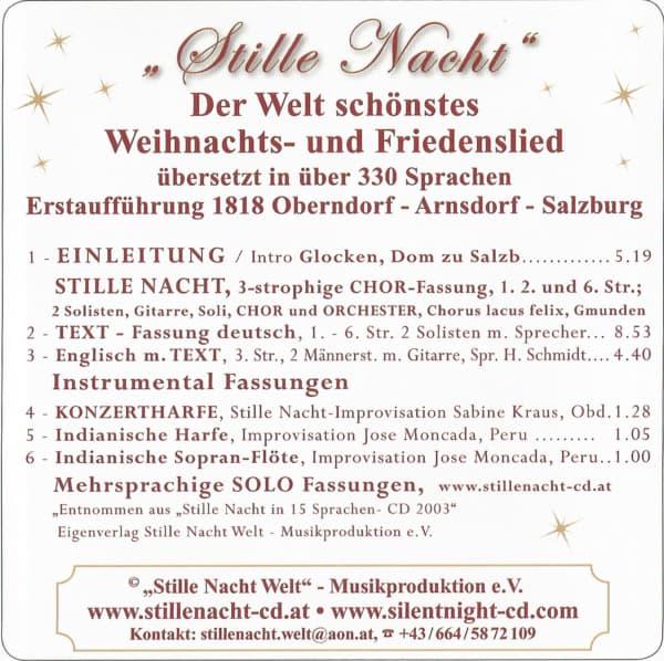"""Neue """"JUBILÄUMS-Stille Nacht CD"""" 7 Sprachen 3"""