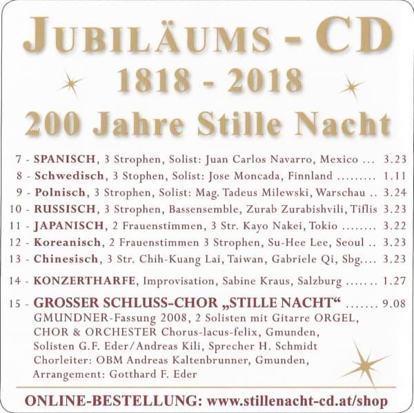 """Neue """"JUBILÄUMS-Stille Nacht CD"""" 7 Sprachen 5"""